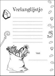 Kleurplaten Sinterklaas Verlanglijstjes