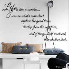 Life Is Like A Camera Quote Wall Stickers Decal Home Decor For Wall Decal Vinyl Art Stickers Decor