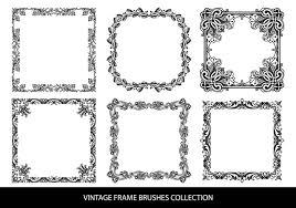 black vintage frame design. Decorative Vintage Frame Brushes Black Design