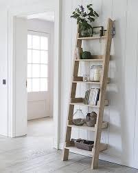 furniture ladder shelves. raw oak rustic shelving unit furniture ladder shelves