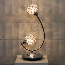 ball table lamp. glass beaded ball table lamp - polished chrome a