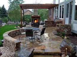 ideas stone for outdoor fireplace