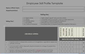Employee Profile Format Employee Skill Profile Template Microsoft Project