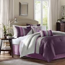 Plum Colored Bedrooms Silver And Purple Bedding Decorate My House