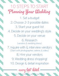 Wedding Detail Checklist Newly Engaged 10 Steps To Start Planning A Wedding