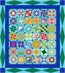 142 best Patchwork blocks images on Pinterest | Patchwork, Quilt ... & Sampler Quilt Design - sampler quilts are made from different patchwork  blocks - read more on our website Adamdwight.com