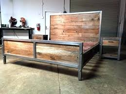 wood and iron bedroom furniture. Reclaimed Wood And Steel Furniture Best Bed Frame Ideas On Distressed Metal Bedroom Iron W