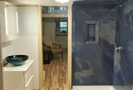 pvc composite wall panels in a blue sodalite pattern innovate building solutions