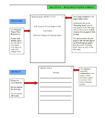 Essay Format Template Style Research Paper Title Page Apa