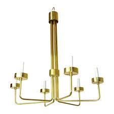 modern brass chandelier mid century modern brass chandelier by hart associates la modern glass brass chandeliers