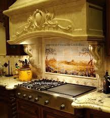 Mural Tiles For Kitchen Decor Fields of Tuscany Landscape Italian Tile Mural backsplash 70