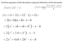 Calculate Derivatives Using Definition Reihymider Ga