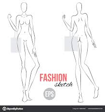 Body Template For Designing Clothes Template Mannequin Drawing Template Women Figure Sketch Different