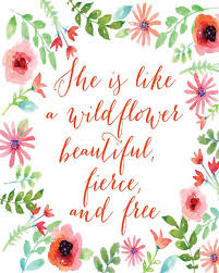 Quote Art Enchanting She Is Like A Wildflower Quote Art Print Mallory Lynn Decor