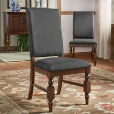 tribecca home flatiron nailhead upholstered dining chairs set of 2 dark grey linen