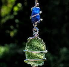 details about moldavite kyanite necklace tektite crystal 925 pendant synergy 12 metaphysical
