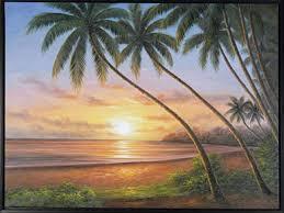 painting sunset beach