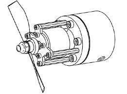 schematic of the model propeller, the dc motor and the figure on simple dc schematic