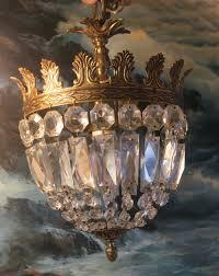 Vintage Braut Kuchen Kristall Lampe Kronleuchter Messing