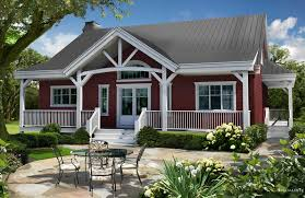 small house plans with porches wrap around red walls expert porch