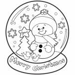 Small Picture christmas snow globe whit snowman coloring pages Free Printable