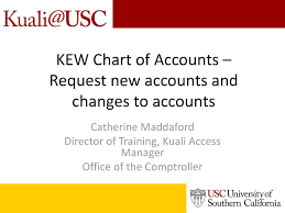 Kew Chart Of Accounts Request New Accounts And Changes To