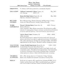 Resume For Nursing School Unique Nursing School Resume Examples Objective Sample Application 19