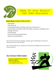 oddjobs business sample marketing flyer it from our oddjobs business sample marketing flyer it from our how to start