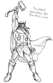 How To Draw Thor Step 4 Thor Drawings Thor Step By Step Drawing