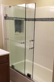 essence shower door frameless sliding slider towel bar
