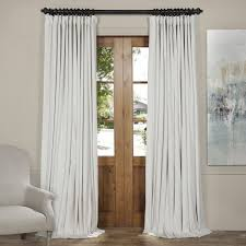 very well be worth it considering the upgrade in aesthetics if you will are the doublewide blackout off white velvet curtain by half ds