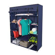 Portable Closet Rod 53 Portable Closet Storage Organizer Wardrobe Clothes Rack