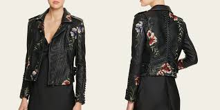 blanknyc studded embroidered faux leather motorcycle jacket