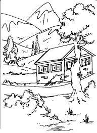 Landschappen Rustige Woning Kleurplaten