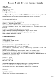 Objective For Truck Driver Resume Driver Resume Objective Examples