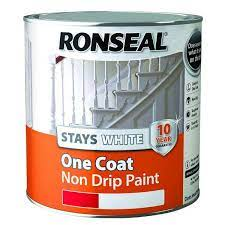ronseal stays white one coat non drip paint