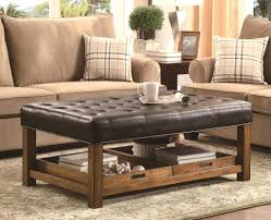 Renate Coffee Table Ottoman Furniture Solid Wood Modern Rustic Coffee Table Design Large