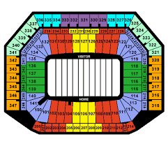 Ford Field Seating Chart View Ford Field Tickets And Seating Chart Frontrow Com