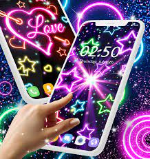 Neon multi color live wallpaper for ...