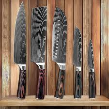 XITUO <b>Beauty</b> Pattern Stainless Steel Kitchen Knives <b>5 Pieces</b> ...
