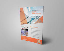 Architecture Brochure Template Free Architecture Flyer Design PSD Template On Behance 18