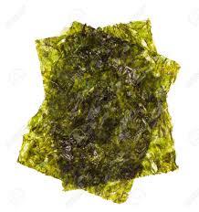 nori sheet sheet of dried nori dried seaweed isolated on white background