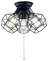 pull string ceiling light chain wire cage 3 lamp for cord switch pull string ceiling light fixture with chain