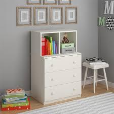 Amazoncom Cosco Skyler Kidsu0027 3 Drawer Dresser with Cubbies White  Kitchen u0026 Dining
