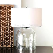 glass table for bedroom get clear glass vase table lamp regarding clear glass table
