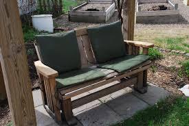 Diy Porch Swing Adventures In Green Living Glider To Porch Swing Diy Conversion