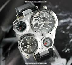 mens fashion dual time zone large dial compass army quartz mens fashion dual time zone large dial compass