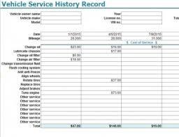 Car Service Record Template Vehicle Service History Record Template My Excel Templates
