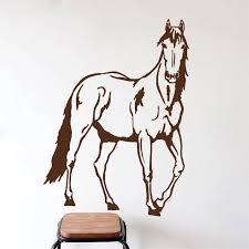 satanding horse silhouette wall decal home art vinyl decor wall stickers murals asnimals series wall decals on horse silhouette wall art with satanding horse silhouette wall decal home art vinyl decor wall