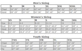Sizing Charts Mathews Team Sports